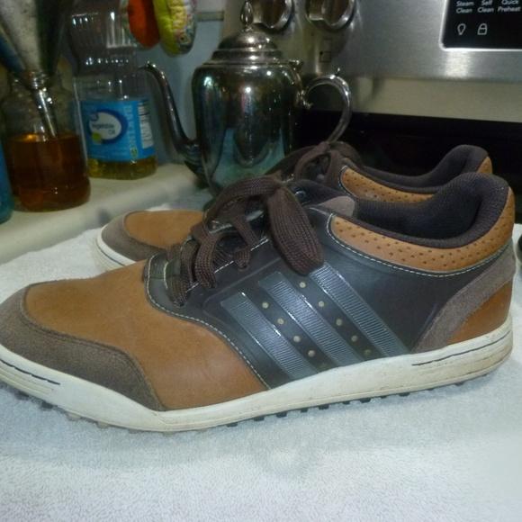 Adidas Mens Adicross III Spikeless Tan/ Brown Golf